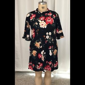Women's black floral dress